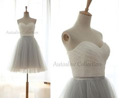 Vintage Inspired Ivory Lace Gray Tulle Wedding by autoalive, $109.00