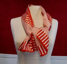 Vera Scarf Vintage Scarves Vintage Vera Scarf Red White Strips Polka Dots Long Neck Scarf Vintage Scarfs. $14.00, via Etsy.