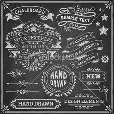 Chalkboard Design Elements Royalty Free Stock Vector Art Illustration