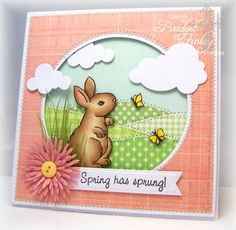 FS314 Butterflies and Bunny by bfinlay - Cards and Paper Crafts at Splitcoaststampers