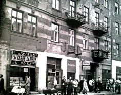 Ząbkowska St in 1958, Warsaw, Poland