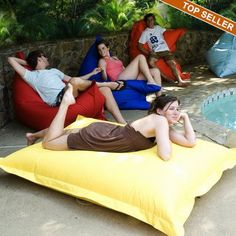 New diy outdoor pillows bean bags ideas Big Bean Bag Chairs, Outdoor Bean Bag Chair, Outdoor Blanket, Outdoor Pillow, Pillow Lounger, Bean Bag Lounger, Pool Pillow, Diy Outdoor Weddings, Outdoor Events