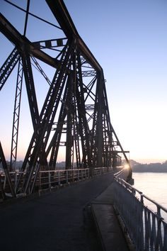 Long Bien bridge in the Morning