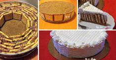 Rengeteg háztartási keksz volt itthon, amit fel kellett használni, gondoltam keksztortát készítek belőle és finom lett! Holidays And Events, Vanilla Cake, Tiramisu, Yummy Food, Delicious Recipes, Food And Drink, Sweets, Ethnic Recipes, Tej