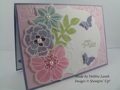 Deb's Stampin' Style: Secret Garden - Stained Glass Technique