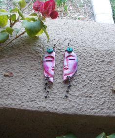 Two Half Heart Earrings