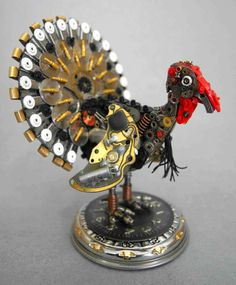 Made entirely from old watch parts by Cheryl Lawson Bass New Group : Come to share, promote your art, your event, meet new people, crafters, artists, performers... https://www.facebook.com/groups/steampunktendencies