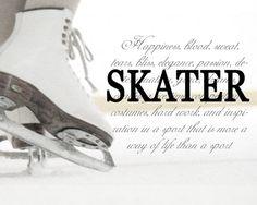 FIGURE SKATING SKATER Figure Skating Ice Skate by LifeDefinition, $18.00