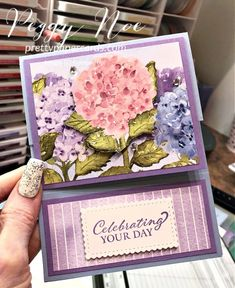 Birthday Cards For Women, Handmade Birthday Cards, Memory Box Cards, Hand Stamped Cards, Fancy Fold Cards, Stamping Up Cards, For Facebook, Paper Cards, Flower Cards