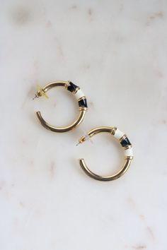 3616bf7cd5b48 Vintage Gold Tone Hoop Earrings | Jewellery in 2019 | Earrings, Hoop ...