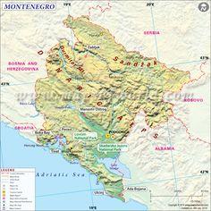 Pin By Darius Mina On European Federation Pinterest Montenegro - Montenegro map download