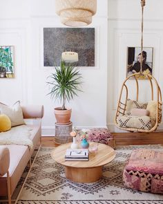 Obsessed with this Boho Chic living room decor!