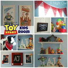 Toy Story themed bedroom. Pretty cool.