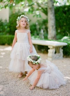 flower girls in the palest shade of pink