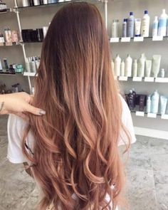 Antique rose ombre by angela orozco. antique rose ombre by angela orozco 40 trendy rose gold hair color ideas Brown Ombre Hair, Ombre Hair Color, Ombre Rose, Gold Hair Colors, Rose Gold Hair, Looks Chic, Hair Trends, Straight Hairstyles, Locks