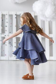 Girls linen dress-Summer linen dress-Organic girls dress-Linen | Etsy Girls Spring Dresses, Girls Blue Dress, Little Girl Dresses, Dress Summer, Linen Dresses, Cute Dresses, Birthday Girl Dress, Frocks For Girls, Kids Fashion