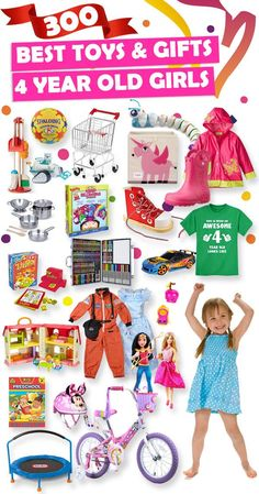 See over 300 great gifts ideas for 4 year old girls.
