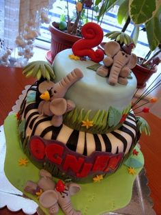Awesome Baby Shower Cake (Adorable Elephants) Need this cake in my future grandbaby's life (no time soon though ; Cupcakes, Cupcake Cakes, Africa Cake, Fancy Cakes, Crazy Cakes, Safari Cakes, Jungle Cake, Elephant Cakes, Cake Shapes