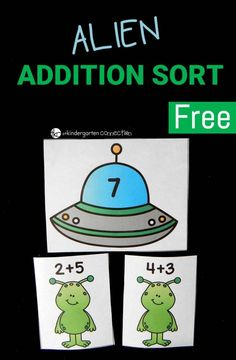 Work on addition facts to 10 with this fun and free alien addition game. It is perfect for kindergarten and first graders to build up addition fluency!