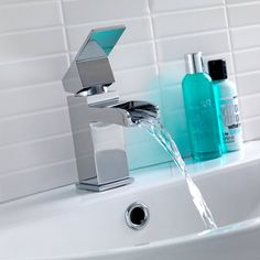 Escala waterfall tap for bathroom £49 http://www.victoriaplumb.com/Taps/Waterfall-Taps/Escala-Waterfall-Basin-Mixer-Tap_1254.html