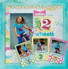 Just 2 Wheels Scrapbook Page by Betsy Veldman for Papertrey Ink (July 2012)