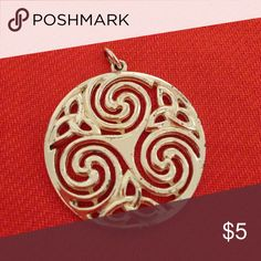 """Celtic knot pendant Beautiful silver spiral Celtic knot, pendant only, bought in Ireland. 1.25"""" across. Jewelry Necklaces"""