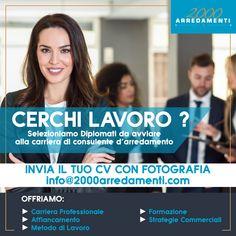 Stiamo cercando collaboratori, inviaci il tuo Curriculum a info@2000arredamenti.com per le selezioni di Settembre.  #2000arredamenti #consulente #lavoro #cesanomaderno #monza #milano #arredamento #formazione Milano