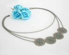 Check out this item in my Etsy shop https://www.etsy.com/il-en/listing/240110215/silver-statement-necklace-silver