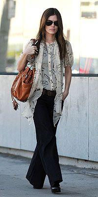 Really like Rachel Bilson's perfectly polished street style!