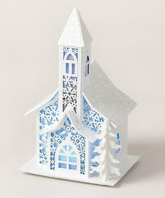 Take a look at this Snowy Chapel Paper Cutout LED Figurine by Roman, Inc. on #zulily today!
