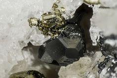 Tennantite - Lengenbach Quarry, Fäld, Binn Valley, Wallis, Switzerland FOV : 2.8 mm