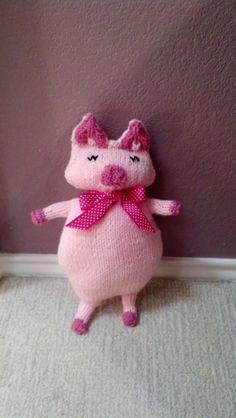 Stuffed Animal Stuffed Toy Pig Handmade Toy by CharlieBDesigns, $30.00