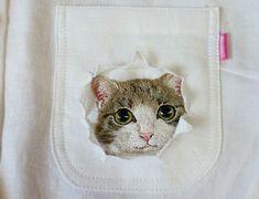 #вышивка #рубашка #узор #ткань #мода #кошка Невероятно! «Кошачью» вышивку от Хироко Кубота разбирают как горячие пирожки Всё просто: Хироко Кубота из Японии вышивает котиков на рубашках. Милые создания в...