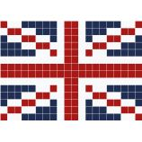 "British flag ""Union Jack"" cross stitch"
