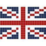 Tapis pompons - union jack pattern