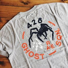 """*Low stock* - Medium weight cotton tee with """"Ghost Squad"""" Back-Print design in Grey Marl — issue #RE0475 •• #vintage #archive #militarian #originalspec #realmandempire #menswear #militaryinspired #issuenumber #ss17 #collection #menswearstyle #ootdmen #mensweardaily #reissued #builttolast #inspired #japanese #deadstock #古着 #入荷 #tees #sale #basics #backprint #ghostsquad #design"""