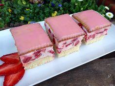 Erdbeerschnitten Erdbeerschnitten Related posts: No related posts. Delicious Cake Recipes, Easy Cake Recipes, Yummy Cakes, Cookie Recipes, Strawberry Slice, Strawberry Cake Recipes, Marzipan Cake, Cake Blog, Food Porn