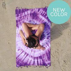 Purple Swirl Beach Towel- Sand Cloud