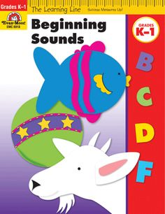 Learning Line: Beginning Sounds, Grades K-1 - Activity Book: Evan-Moor.com