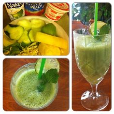 Green Smoothie Honeydew melon (5 scoops) Cucumber (chunk) Pineapple ...