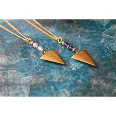Mara Arrow Head Semi Precious Stone Necklace ($25) ❤ liked on Polyvore featuring jewelry, necklaces, semi precious necklace, semiprecious stone jewelry, mara, semi precious stone necklace and semi precious jewellery
