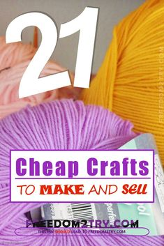 21 Cheap Crafts To Make And Sell. Crafts To Make And Sell - Cheap craft ideas to sell - 21 ideas to make a little extra money. 21 Cheap Crafts To Make And Sell From Home - This is a detailed list offering genuine ideas to make money from home with a Craft Fair Ideas To Sell, Craft Show Ideas, Crafts For Teens, Home Craft Ideas, Tween Craft, Fun Craft, Craft Sale, Fun Diy, Nursing Pads