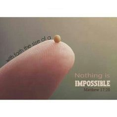 Faith as small as a mustard seed https://www.facebook.com/moretobe