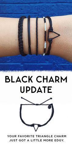 New Black Charm bracelets have arrived at Pura Vida! Style your wrist this…