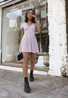 Cute Summer Outfits, Cute Casual Outfits, Autumn Outfits, Casual Summer Style, Outfits For Spring, Outfit Ideas Summer, Casual Summer Dresses, Dress Summer, Date Outfit Casual