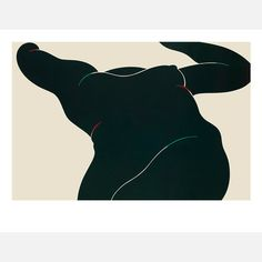 milton glaser. black foreshortened nude  Crossing boundaries between art and graphic design