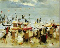 Martha Walter - Chairs at Brighton Beach Painting