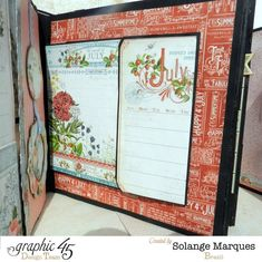 July page - Graphic 45 Time to Flourish 2015 mixed media album by Solange! #graphic45
