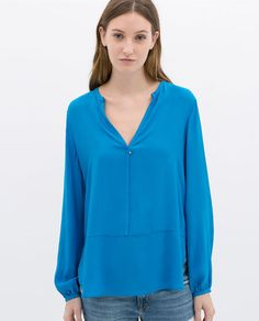 Image 1 of SHIRT WITH SEAM AT THE WAIST from Zara
