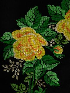 Etamin Seccadelerim Cross Stitch Designs, Cross Stitch Patterns, Simple Cross Stitch, Cactus Plants, Embroidery Stitches, Diy And Crafts, Projects To Try, Knitting, Flowers
